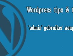WP Tricks: admin aanpassen