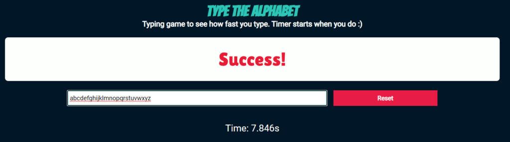 Type the Alphabet